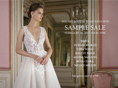 Blush Bridal One Day Sample Sale * Vancouver, BC, Vancouver