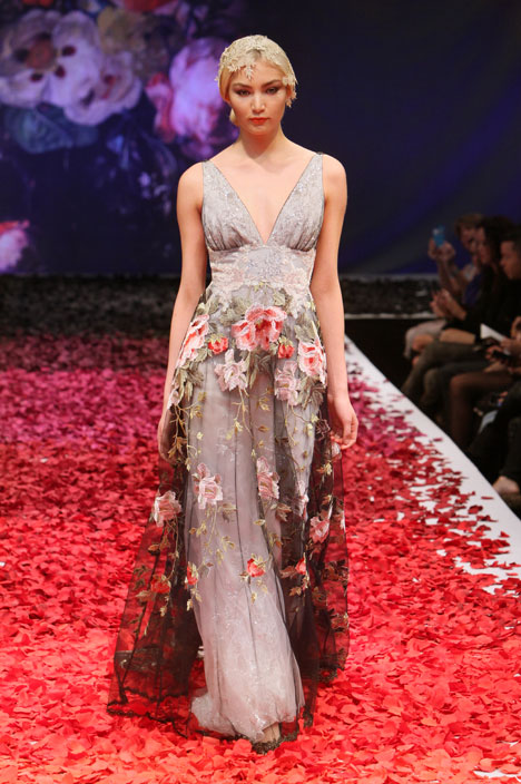 Raven gown from the 2014 Claire Pettibone : Romantique collection, as seen on dressfinder.ca