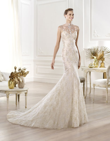 Yalim gown from the 2014 Pronovias collection, as seen on dressfinder.ca