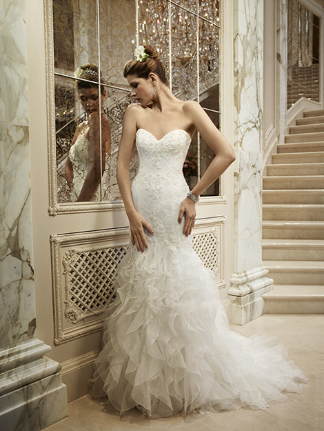 5dcd0df906bd 2096 gown from the 2012 Casablanca Bridal collection, as seen on  dressfinder.ca