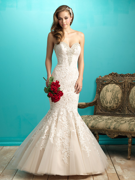 9266 gown from the 2015 Allure Bridals collection, as seen on dressfinder.ca