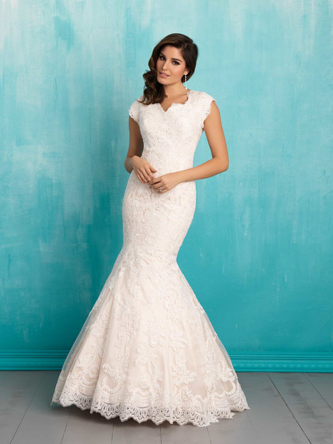 M556 gown from the 2016 Allure Bridals: Allure Modest collection, as seen on dressfinder.ca