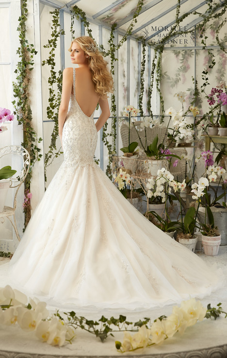 2823 (back) gown from the 2016 Mori Lee: Bridal collection, as seen on dressfinder.ca