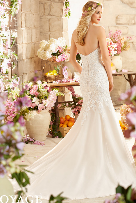 6807 (back) gown from the 2015 Mori Lee: Voyage collection, as seen on dressfinder.ca