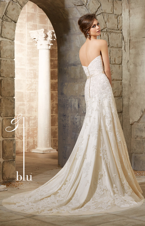 5361 (back) gown from the 2015 Mori Lee: Blu collection, as seen on dressfinder.ca