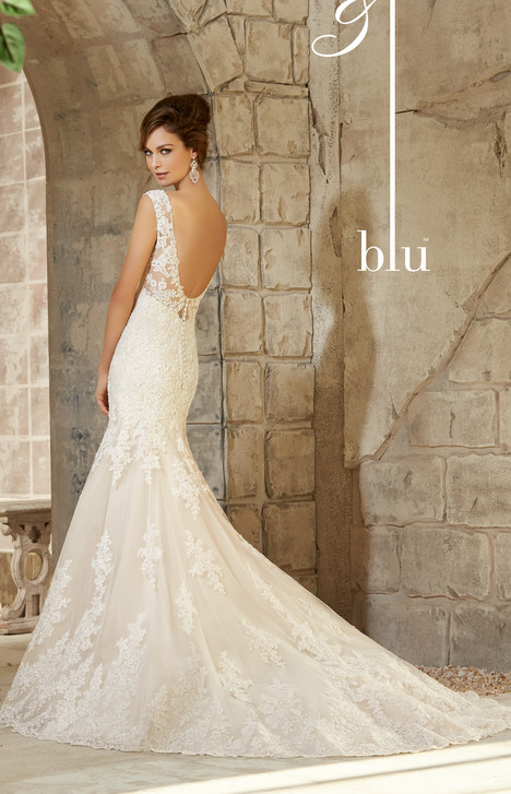 5363 (back) gown from the 2015 Mori Lee: Blu collection, as seen on dressfinder.ca