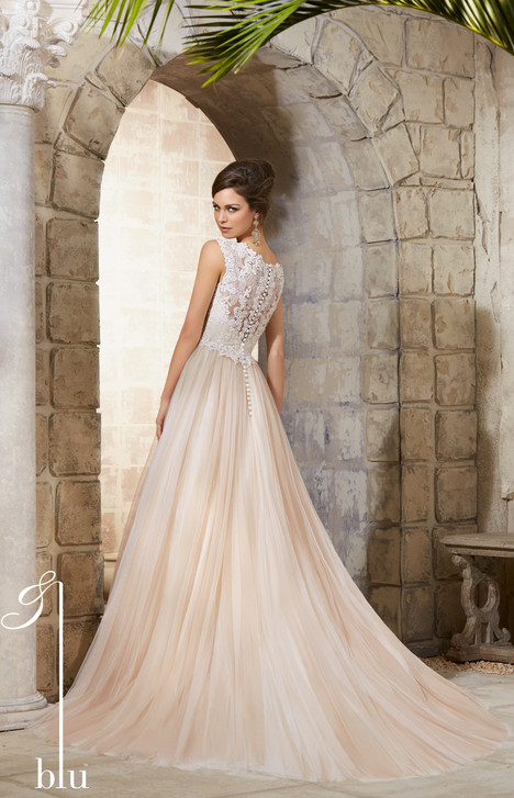 5368 (back) gown from the 2015 Mori Lee: Blu collection, as seen on dressfinder.ca