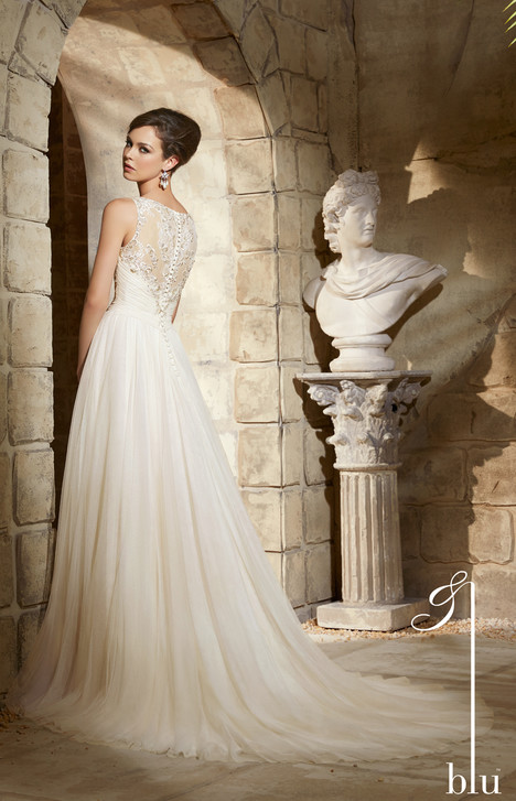 #5374 (back) gown from the 2015 Morilee Blu collection, as seen on dressfinder.ca