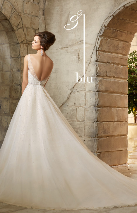 5376 (back) gown from the 2015 Mori Lee: Blu collection, as seen on dressfinder.ca