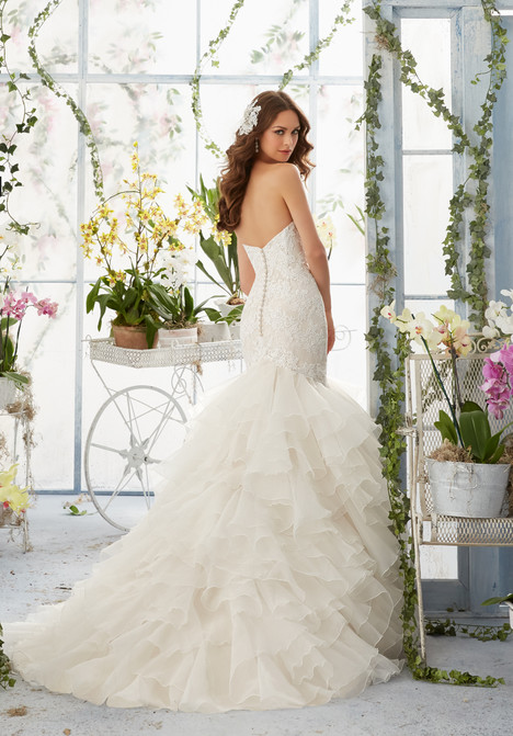 5409 (back) gown from the 2016 Mori Lee: Blu collection, as seen on dressfinder.ca
