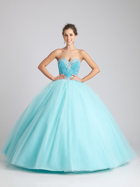 Q532 (aqua) gown from the 2016 Allure Quinceanera collection, as seen on dressfinder.ca