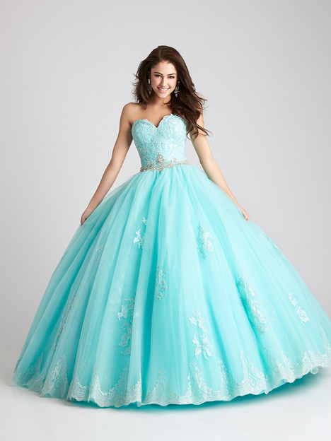 Q533 (aqua) gown from the 2016 Allure Quinceanera collection, as seen on dressfinder.ca