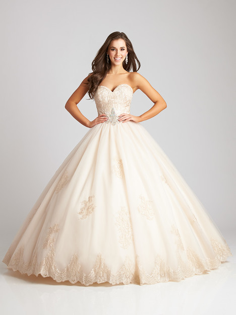 Q533 (champagne) gown from the 2016 Allure : Quinceanera collection, as seen on dressfinder.ca