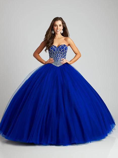 Q534 (navy) gown from the 2016 Allure : Quinceanera collection, as seen on dressfinder.ca