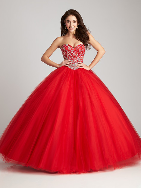 Q534 (red) gown from the 2016 Allure Quinceanera collection, as seen on dressfinder.ca