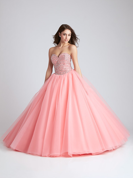 Q538 (coral) gown from the 2016 Allure Quinceanera collection, as seen on dressfinder.ca