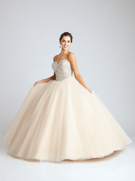 Q538 (ivory) gown from the 2016 Allure : Quinceanera collection, as seen on dressfinder.ca