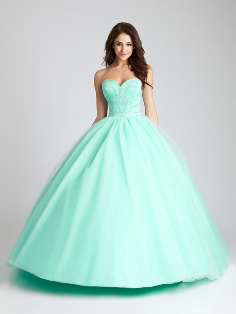 Q539 (light green) gown from the 2016 Allure : Quinceanera collection, as seen on dressfinder.ca