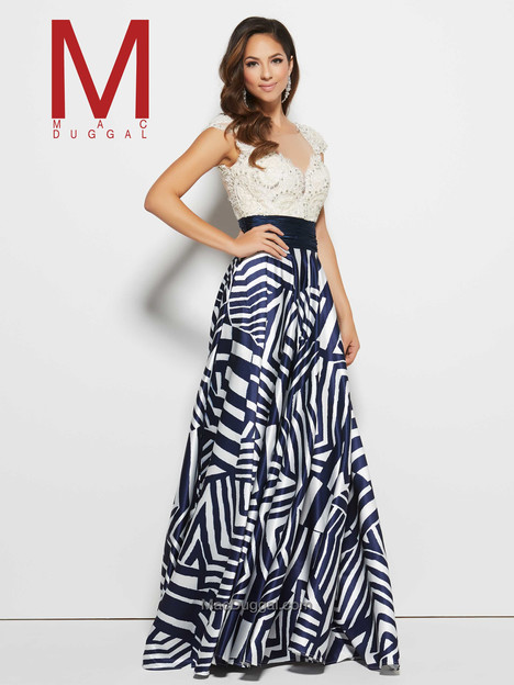 20028M (navy & ivory) gown from the 2016 Mac Duggal Prom collection, as seen on dressfinder.ca