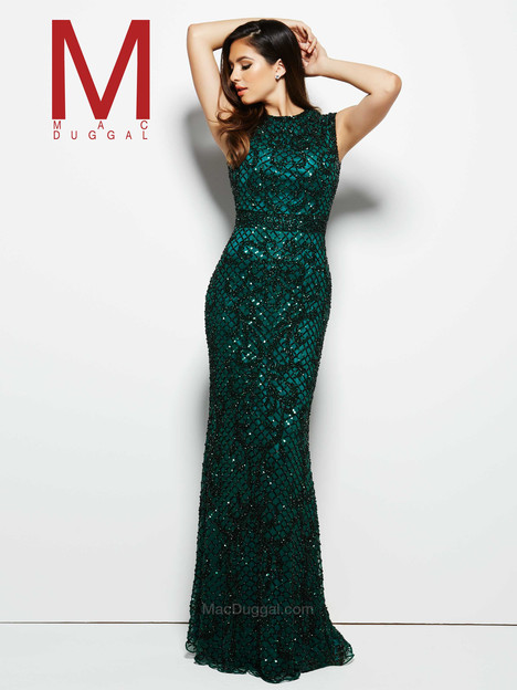 eeb1c22b67 4265M (bottle green) gown from the 2016 Mac Duggal Prom collection