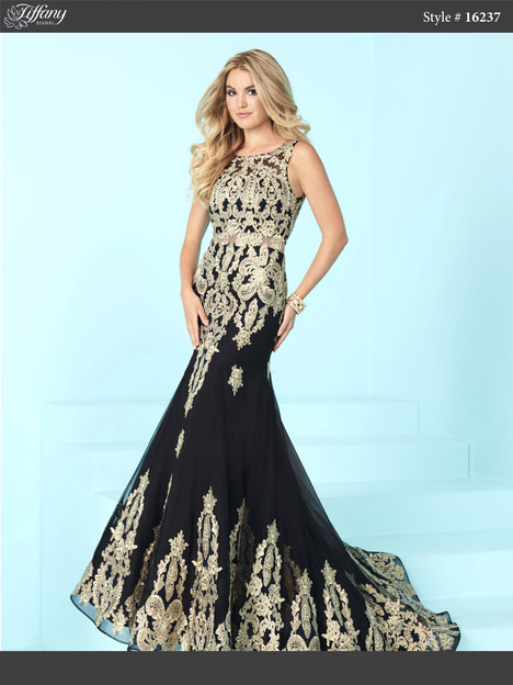 16237 Black Gold Prom Dress By Tiffany Designs Dressfinder