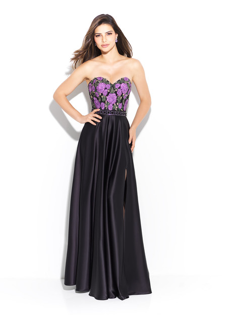 17 265 Black Purple Prom Dress By Madison James Special