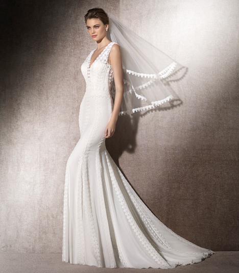 Maribel gown from the 2017 St. Patrick collection, as seen on dressfinder.ca