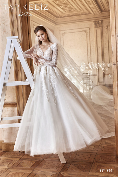 3d42b969564 Marbella (G2034) gown from the 2017 Tarik Ediz  White collection
