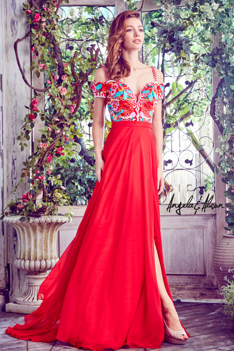 771036 (hot red) gown from the 2017 Angela & Alison Prom collection, as seen on dressfinder.ca