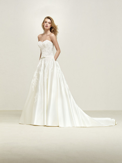 49fd1e73a5d Drape gown from the 2018 Pronovias collection