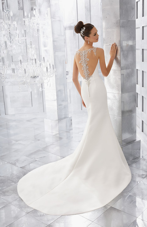 5569 (back) gown from the 2017 Mori Lee: Blu collection, as seen on dressfinder.ca