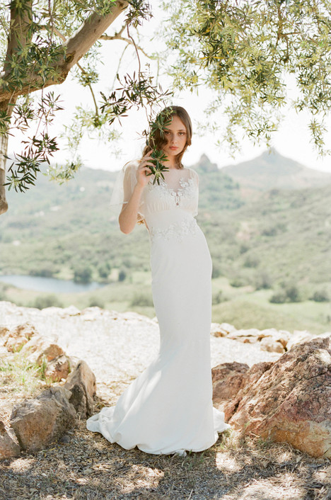 Merlot gown from the 2017 Claire Pettibone : Romantique collection, as seen on dressfinder.ca