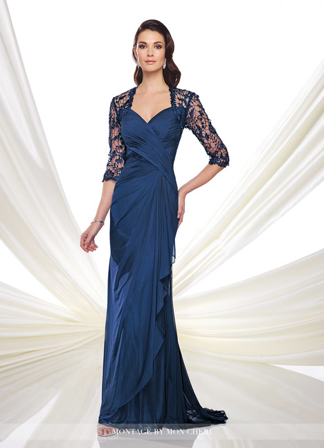 214943 (navy) (+ jacket) gown from the 2014 Montage by Mon Cheri collection, as seen on dressfinder.ca
