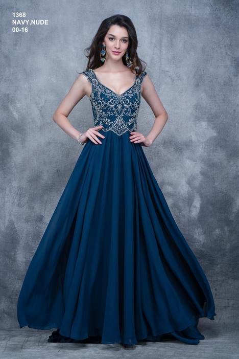 1368 (navy) gown from the 2018 Nina Canacci collection, as seen on dressfinder.ca