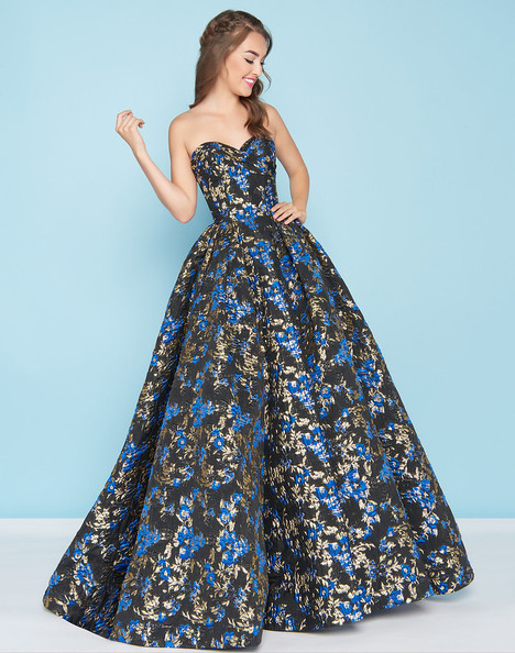 6907db7a18e9 66555H (Royal + Black) gown from the 2018 Mac Duggal : Ball Gowns collection