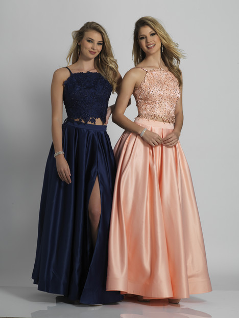 6394 (blush & navy) gown from the 2018 Dave & Johnny : Special Occasions collection, as seen on dressfinder.ca