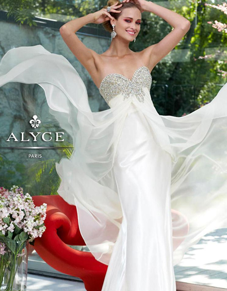 6070 gown from the 2016 Alyce Paris: Semi Formal collection, as seen on dressfinder.ca