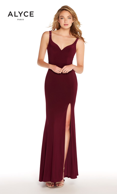 f07e73be8a9 60004 (Burgundy) gown from the 2018 Alyce Paris collection