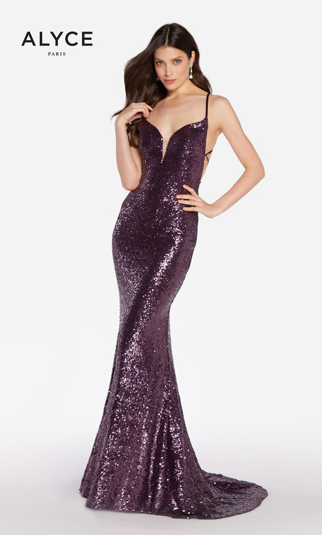 9b977e2672c 60032 (Eggplant) gown from the 2018 Alyce Paris collection
