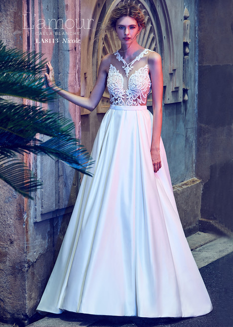 Nicole (LA8113) gown from the 2018 L'Amour by Calla Blanche collection, as seen on dressfinder.ca