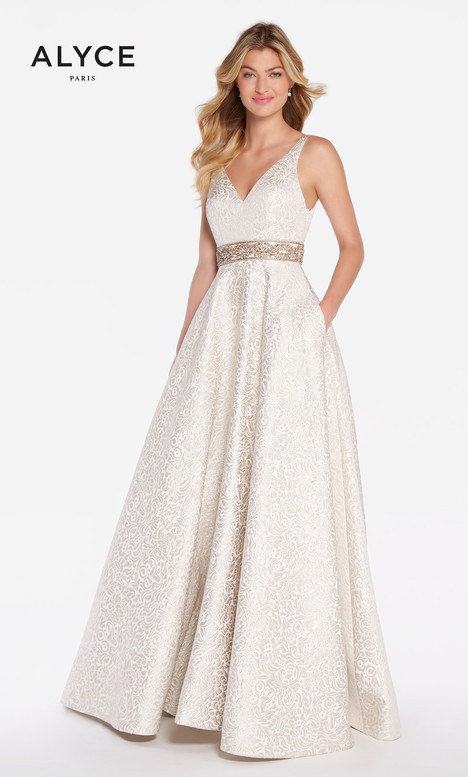 60121 (Champange) gown from the 2018 Alyce Paris collection, as seen on dressfinder.ca