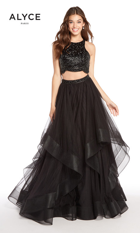 60207 (Black) gown from the 2018 Alyce Paris collection, as seen on dressfinder.ca