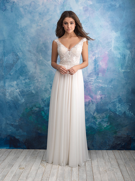9563 gown from the 2018 Allure Bridals collection, as seen on dressfinder.ca