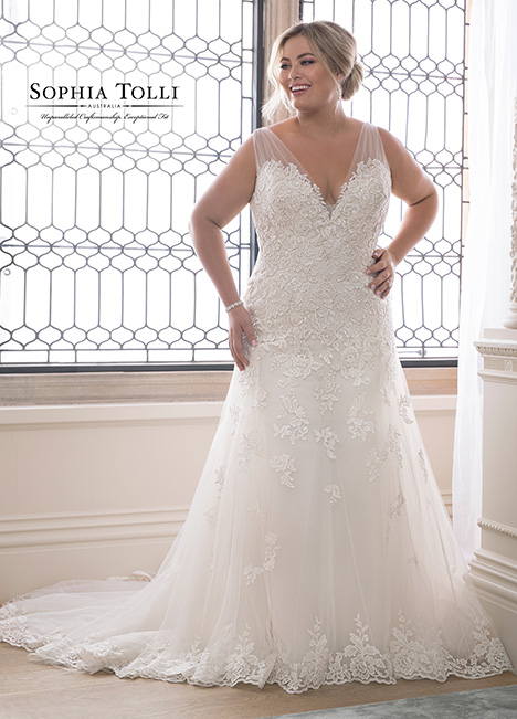 Y21830 (+) gown from the 2018 Sophia Tolli collection, as seen on dressfinder.ca