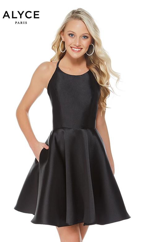 3703 Black Prom Dress By Alyce Paris Semi Formal Dressfinder