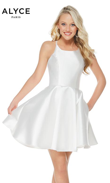 3703 Diamond White Prom Dress By Alyce Paris Semi Formal