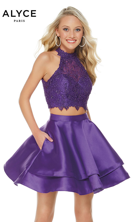 3735 (Ultraviolet) gown from the 2018 Alyce Paris: Semi Formal collection, as seen on dressfinder.ca