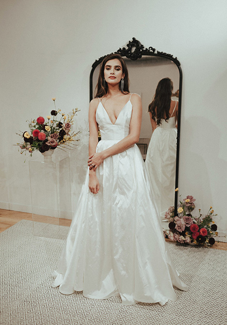 Breakfast in Bed gown from the 2018 Sarah Seven collection, as seen on dressfinder.ca