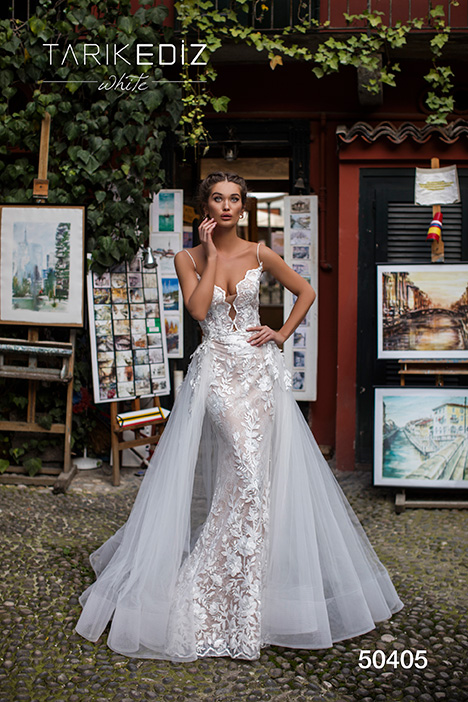 50405 gown from the 2019 Tarik Ediz: White collection, as seen on dressfinder.ca