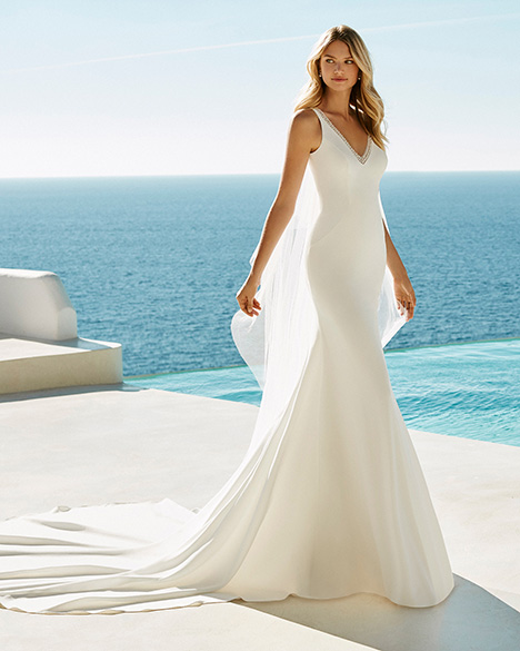 GRAZIELA gown from the 2019 Aire Barcelona Beach Wedding collection, as seen on dressfinder.ca